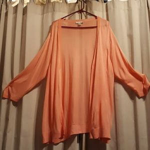 Long open front sweater